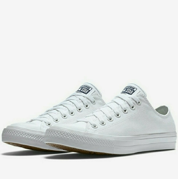 NWT Converse Chuck 2 Nike Lunarlon White Low Top NWT